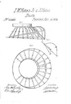 1859 Bustle Patent US23681 - BUSTLE - Google Patents