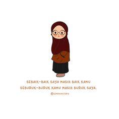 muhasabah #koreksidiri Quotes Lucu, Bae Quotes, People Quotes, Mood Quotes, Cute Cartoon Quotes, Cartoon Gifs, Cartoon Drawings, Islamic Inspirational Quotes, Islamic Quotes