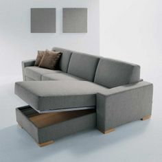 Store throws in this storage compartment under the chaise lounge.  I wonder if you sacrifice comfort for functionality?