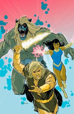 Thundarr the Barbarian with Ariel and Ookla the Mok