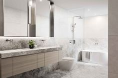 Botanical Bathroom, Apartment Complexes, Soothing Colors, Grey Bathrooms, Bathroom Inspiration, Interior Architecture, Home And Family, House Design, Studio
