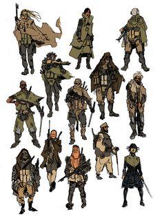 drawforbroke:  Character concepts inspired by Frank Herbert's DUNE.
