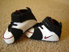 BABY BOYS NIKE FLIGHT BASKETBALL SOFT CRIB SHOES SNEAKERS 3C WHITE BLACK RED