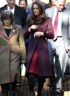 Kate Middleton plum coat