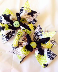 Hand made set of 2 hair bows by CinderellaBowtique on Etsy, $5.00