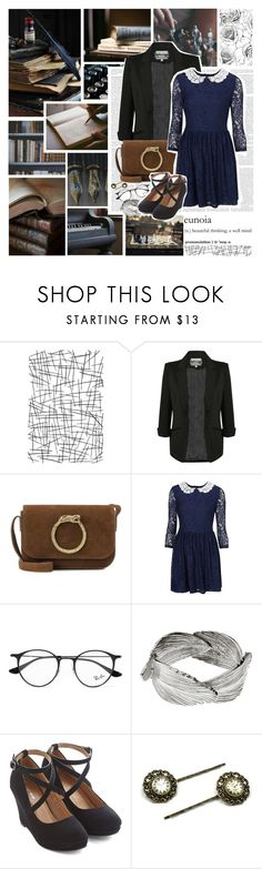 """""""The Magicians: Knowledge magic"""" by violetrose74 ❤ liked on Polyvore featuring Pilot, Yves Saint Laurent, Ray-Ban and AURUM by Guðbjörg"""
