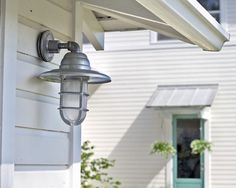 Galvanized metal roof cover, cute outdoor fixtures!