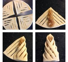 Not in English. Pinning for pastry design only Pastry Recipes, Dessert Recipes, Cooking Recipes, Pastry Design, Bread Shaping, Good Food, Yummy Food, Bread And Pastries, Danish Pastries