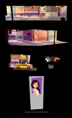 Visual development for game by Denis Spichkin, via Behance