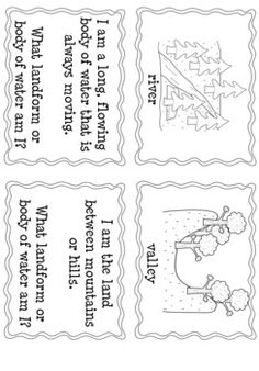 Here's a set of cards for a matching game on landforms.