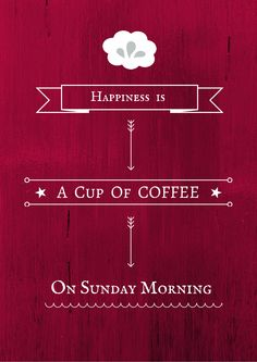 Happy Sunday coffee - even though it's dreadfully gloomy outside!