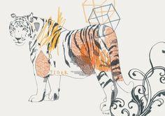 PinkPaperCircus.Illustration.tiger2