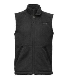 Size M, grey or green. An ace layering piece for cold days, this Sherpa fleece vest keeps your core warm while leaving your arms free to pop tents and gather kindling.