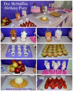 Doc McStuffins birthday party food ideas