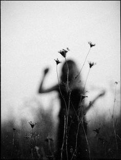 #blackandwhite #flowers #girl