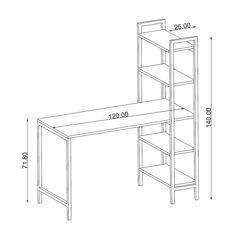 Metal Profil Ayaklı Kitaplıklı Çalışma Birimi Iron Furniture, Steel Furniture, Industrial Furniture, Office Furniture, Furniture Design, Furniture Nyc, Furniture Outlet, Cheap Furniture, Metal Desks