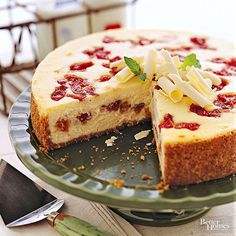 Wisconsin Rhubarb Cheesecake