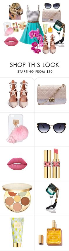 """Untitled #80"" by roxana27 ❤ liked on Polyvore featuring Valentino, Christian Dior, Ashlyn'd, Oscar de la Renta, Lime Crime, Yves Saint Laurent, tarte, Marc Jacobs and AERIN"