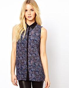Image 1 ofOasis Butterfly Sleeveless Shirt