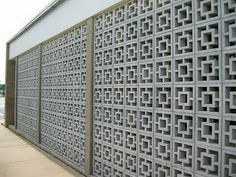 Modern Cinderblock Wall Design. We Have This At Our House   Can We Paint It