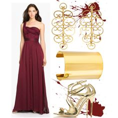 Formal Burgundy and Gold