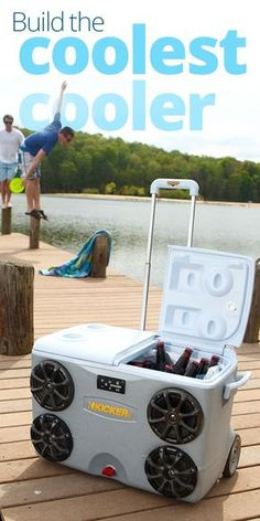 Installing a digital sound system in a cooler  We deck out a cooler, Crutchfield style