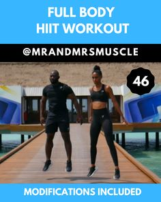 Full Body HIIT Workout – with Beginner Modifications Full Body HIIT Workout – with Beginner Modifications,Health and Fitness The. Est exercise to add to your HIIT workout routine Related. Hiit Workouts With Weights, Full Body Hiit Workout, Hiit Workouts For Beginners, 10 Minute Workout, Ab Workouts, Fitness Workouts, Fitness Motivation, Jump Workout, Fitness Pilates