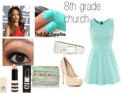"""8th grade church"" by foreveryoungonedirection ❤ liked on Polyvore"