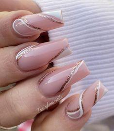 Les Nails, Aycrlic Nails, Manicure, Korean Nail Art, Korean Nails, Nails Inspiration, Design Inspiration, Minimalist Nails, Long Acrylic Nails