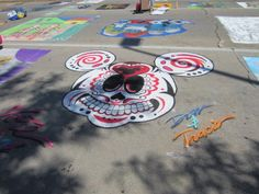 One of the many fun chalk creations for the Fort Wayne Museum of Art's Annual Chalk Walk. So fun!