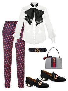 """""""ohh thats my suits"""" by ciciliadewintastanim on Polyvore featuring P.A.R.O.S.H., Elisabetta Franchi and Gucci"""