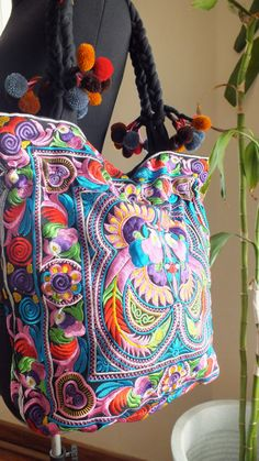Bohemian bags tote Handbags ethnic style shoulder by shopthailand