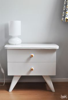 Sneak peek mini bedroom make-over: nightstands. www.teamconfetti.nl