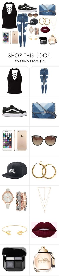 """""""Bigger is Better"""" by stracyolivier on Polyvore featuring Miss Selfridge, Topshop, Vans, STELLA McCARTNEY, Linda Farrow, NIKE, Arizona, Jessica Carlyle, Natalie B and Lord & Taylor"""