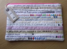 Selvedge Toiletries MakeUp Pencil Sewing Bag by Giorgann on Etsy, £12.00