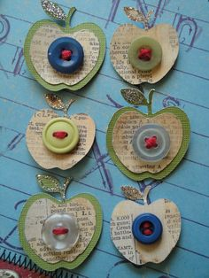apple scrapbook embellishments / EllenasPaperHouse