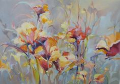 "Contemporary Artists of Colorado: Contemporary Botanical Floral Painting ""Festival"" by Intuitive Artist Joan Fullerton"