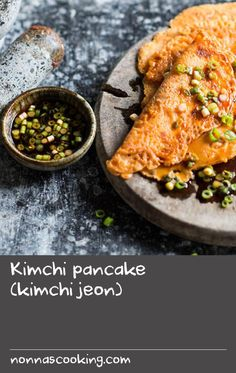 This is a great use of leftover kimchi. As with most Korean recipes, you can tweak it to your own tastes with the addition of other vegetables, meat or seafood. You can use the ready-made Korean pancake batter (bu-chim-ga-ru) from Korean groceries. Korean Recipes, Korean Food, Kimchi Rice, Korean Pancake, Crepe Batter, Batter Recipe, Us Foods, Vegetable Recipes, Seafood