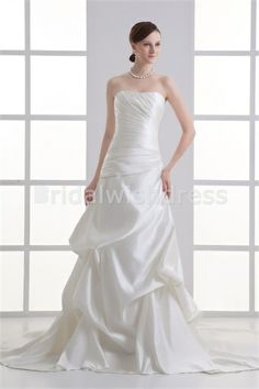 Ruched Sheath/ Column Hourglass Strapless New Arrival Wedding Dresses