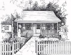 I am DEFINITELY doing this. Someday. Custom artwork, home drawn from photos in black ink, custom home portrait