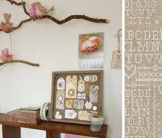 OMG - I can't tell which I like more - the adorable tag artwork or the branches with the cute birdies perched!
