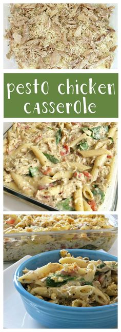 This Pesto Chicken Casserole recipe is creamy and delicious!