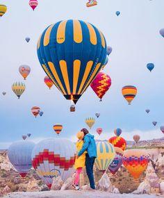 Cappadocia inspiration by Kristina Makeeva on 500px ...... #sunset #turkey #girl #balloons #magic #levitation #Cappadocia