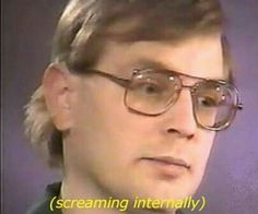 I don't know why but this made me laugh hysterically. Is that Jeffrey Dahmer? I think it is. My Tumblr, Tumblr Funny, The Wombats, Jeffrey Dahmer, Thing 1, Funny Pins, Funny Stuff, Random Stuff, Random Things