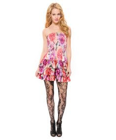 Betsey Johnson ENGLISH TEA ROSE SHORT TIERED DRESS $246
