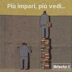 Per vedere di più devi apprendere di più. Quale libro stai leggendo in questo periodo? #conoscenza #visione
