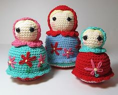 Crochet Babushka Dolls by Starfall on Etsy #artistsloft #etsyfinds #handmade