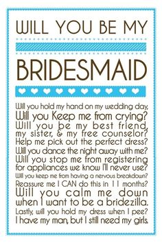 Asking the Bridesmaid, cute ♥✤ | Keep the Glamour | BeStayBeautiful