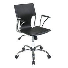 Office Star One Avenue Six Black/Chrome Vinyl Task Office Chair Dor26-