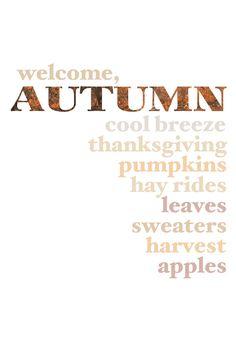 Word Art Print: Autumn Words. $15.00, via Etsy.
